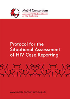 PDF front page for CBS Protocol SWOT Tool - Protocol for the Situational Assessment of HIV Case Reporting