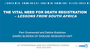 PDF front cover for a document entitled The Vital Need for Death Registration – Lessons from South Africa