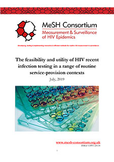 Front cover of PDF document titled The Feasibility And Utility Of HIV Recent Infection Testing In A Range Of Routine Service-Provision Contexts